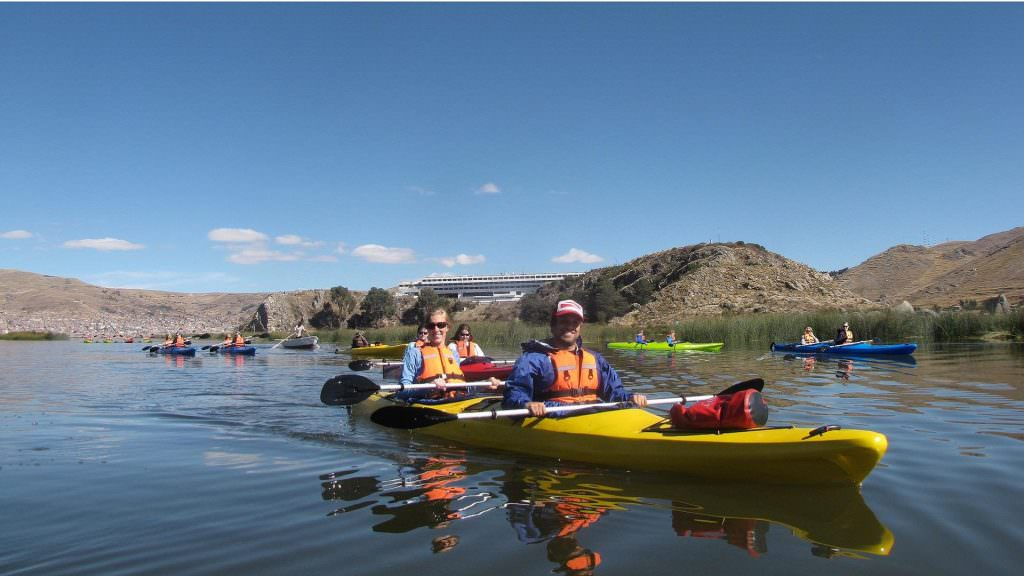 FEATURED FD KAYAK 3 ISLANDS IN LAKE TITICACA 1024x576 - 8-DAY TOUR INCA TRAIL TO MACHU PICCHU, CUSCO, SACRED VALLEY